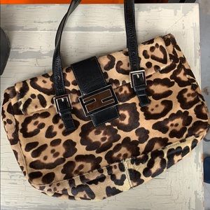 Vintage Fendi cheetah purse